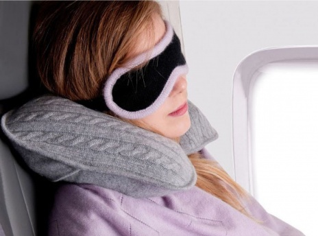 Plum Ivory Neck Pillow